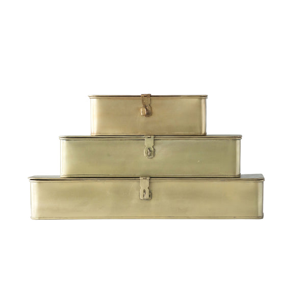 Gold Decorative Metal Box