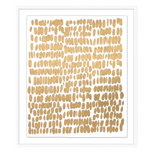 Golden Dots Framed Print