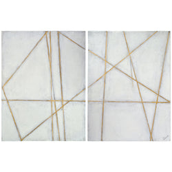 Gold Lines Canvases