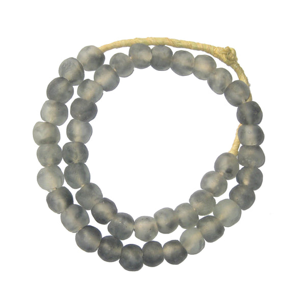 Grey Recycled Glass Beads