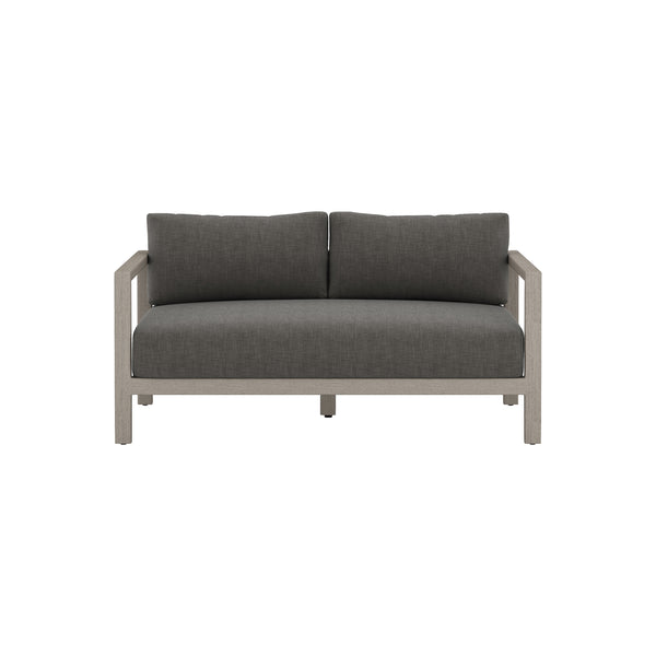 Massey Grey Outdoor Sofa - Charcoal