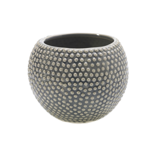 Grey Dotti Pot