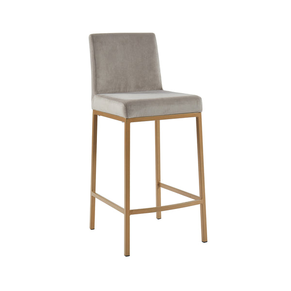 Petra Counter Stool - Grey/Gold