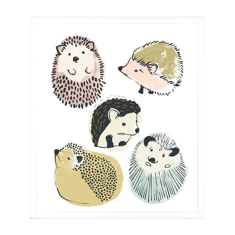Happy Hedgehogs I Framed Print