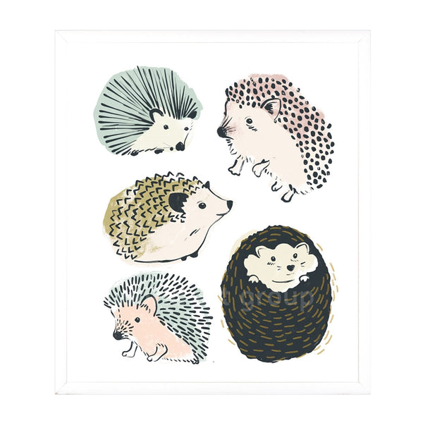 Happy Hedgehogs II Framed Print