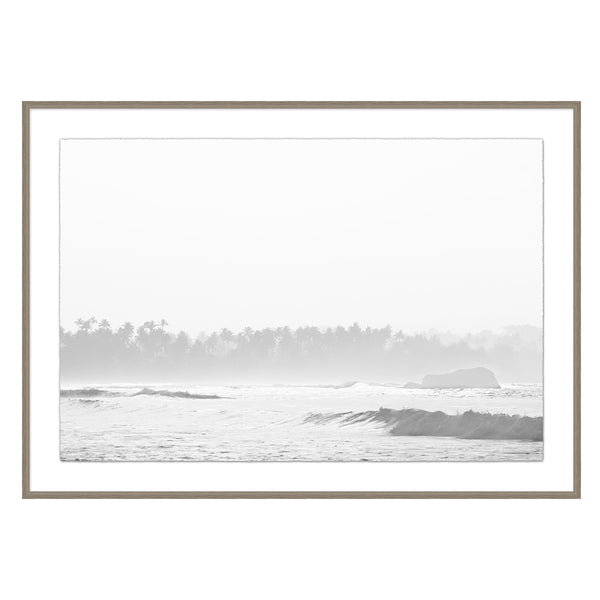 Hazy Bay Framed Print