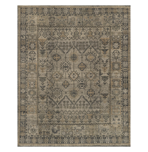 Heirloom Bone/Charcoal Rug