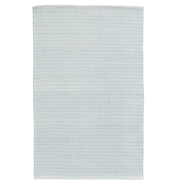 Herringbone Light Blue/Ivory Rug