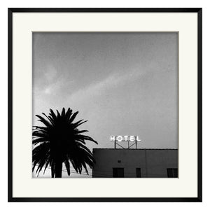 Black and White Hotel Framed Print