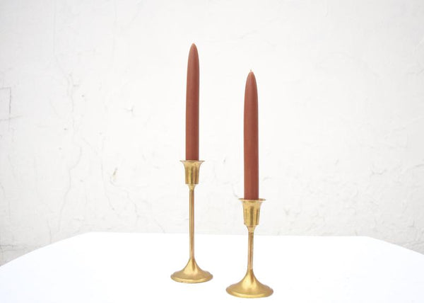 Beeswax Taper Candles - Caramel