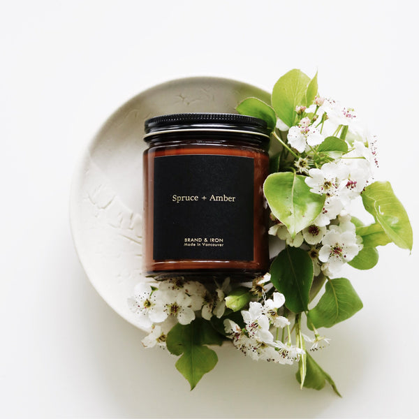 Spruce and Amber Dark Spaces Candle