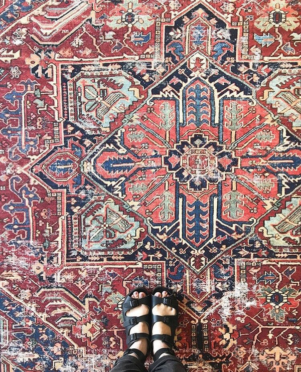 Lucca Red/Blue Rug