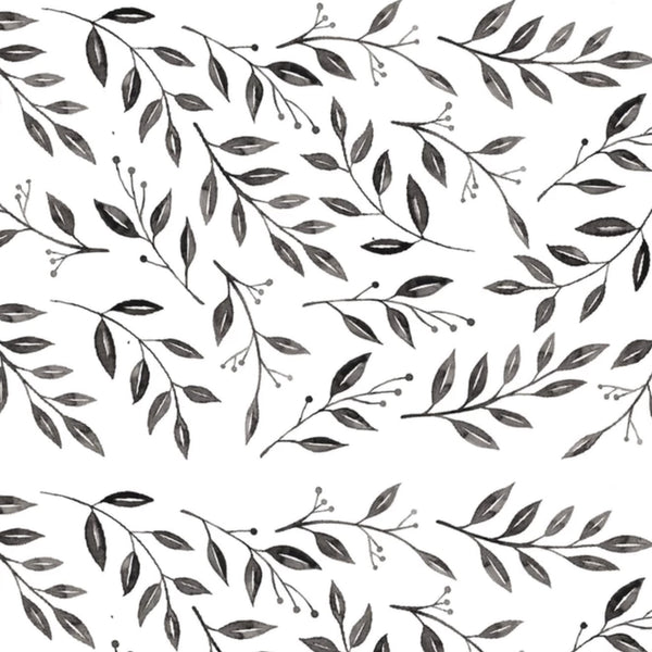 Inked Leaves Decal