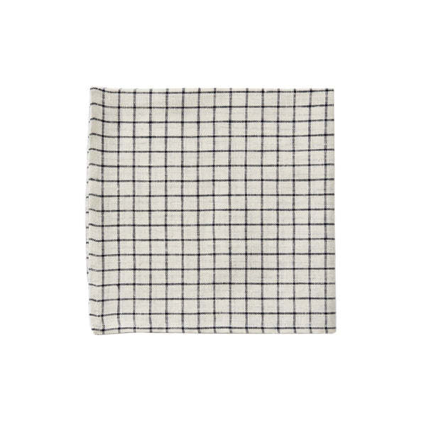 Ivory/Navy Plaid Napkin