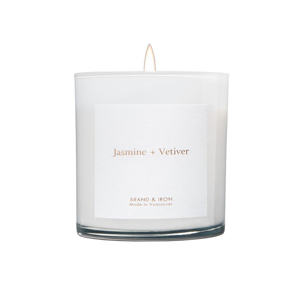 Jasmine + Vetiver Boxed Candle