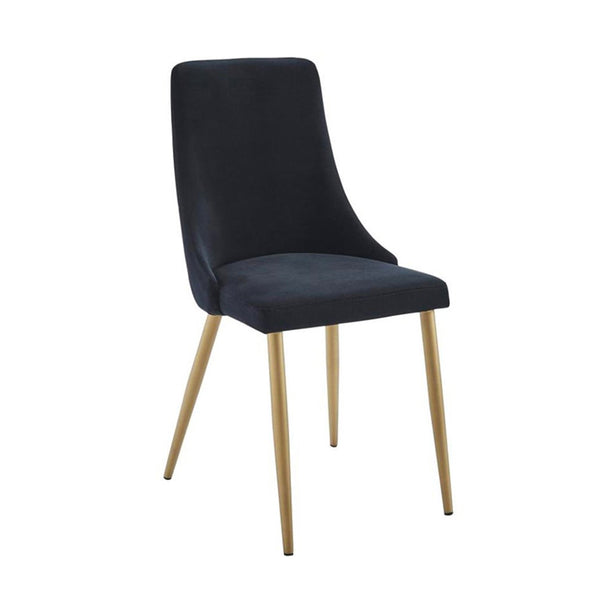 Carmen Black Velvet Dining Chair