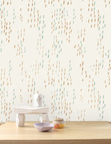 The Sou'Wester Wallpaper - Copper and Patina on Cream