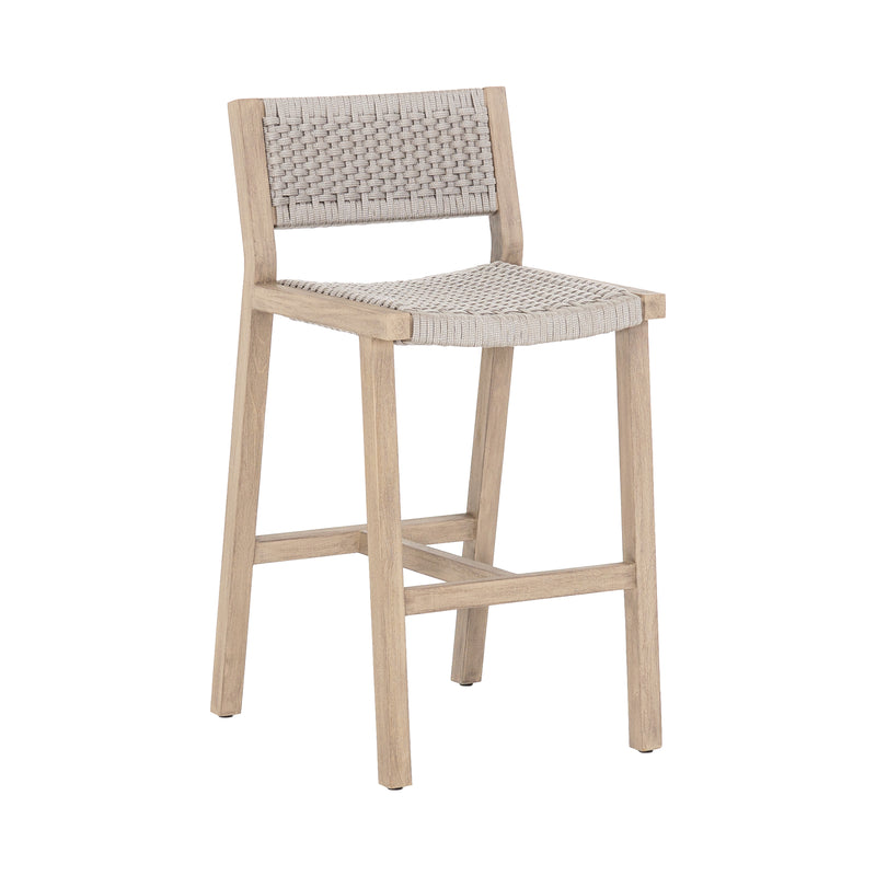 Lando Outdoor Stool - Washed Brown