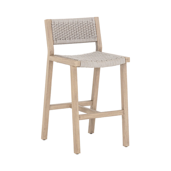Lando Outdoor Bar Stool - Washed Brown - Floor Model