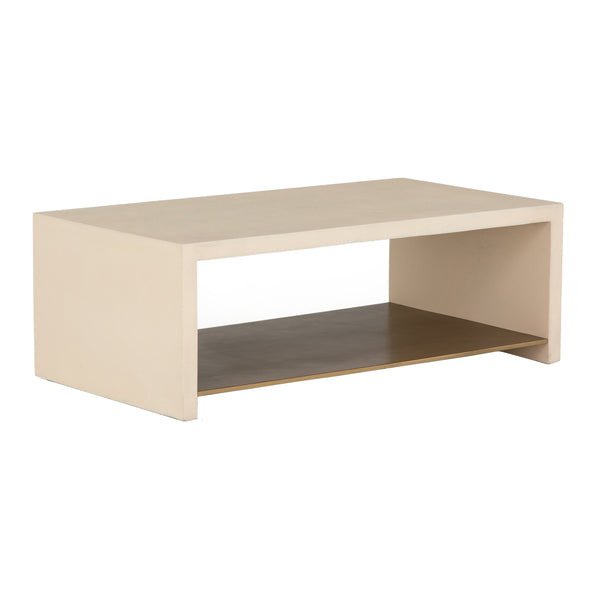 Lilia Coffee Table - Parchment White