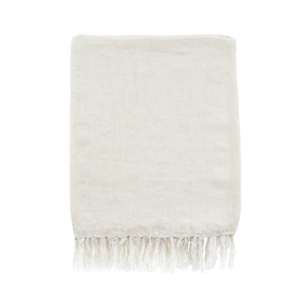 Lina Linen Throw - Natural