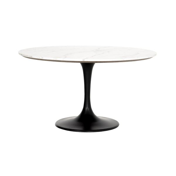 Lowe Dining Table - White Marble