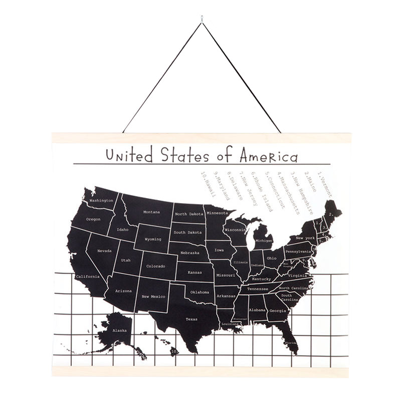 Map of the USA Wall Hanging