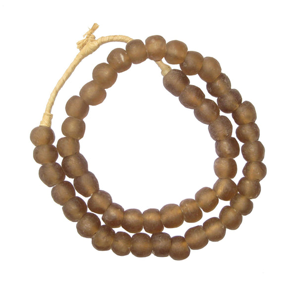 Mocha Recycled Glass Beads