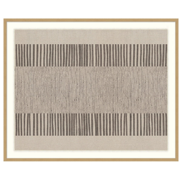 Natural Textiles III Framed Print
