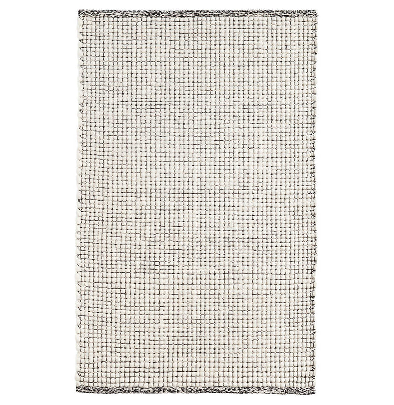 Network Black Woven Wool Rug