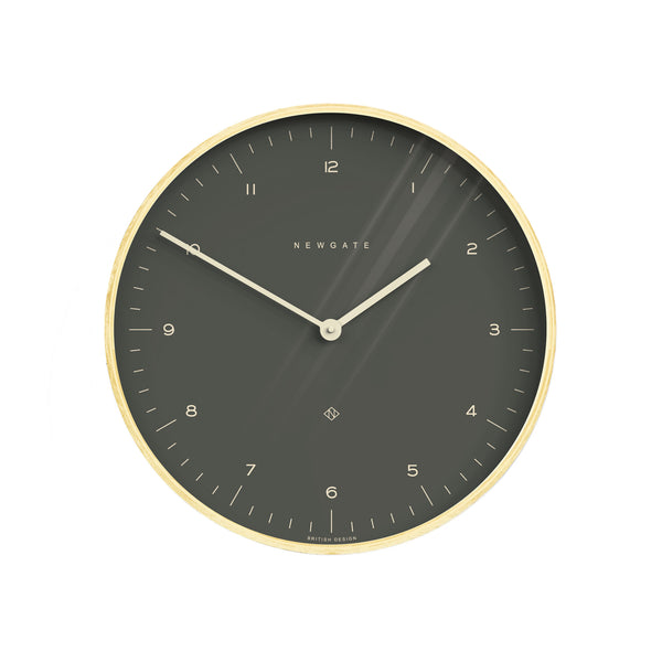Mr. Clarke Large Wall Clock - Oil Grey