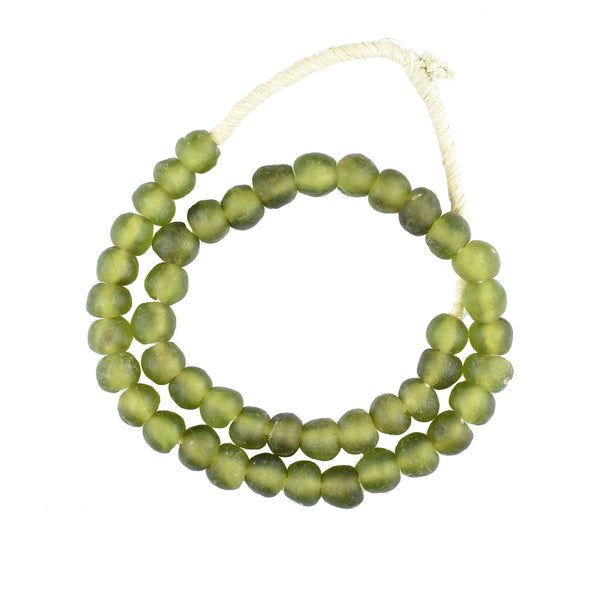 Olive Recycled Glass Beads