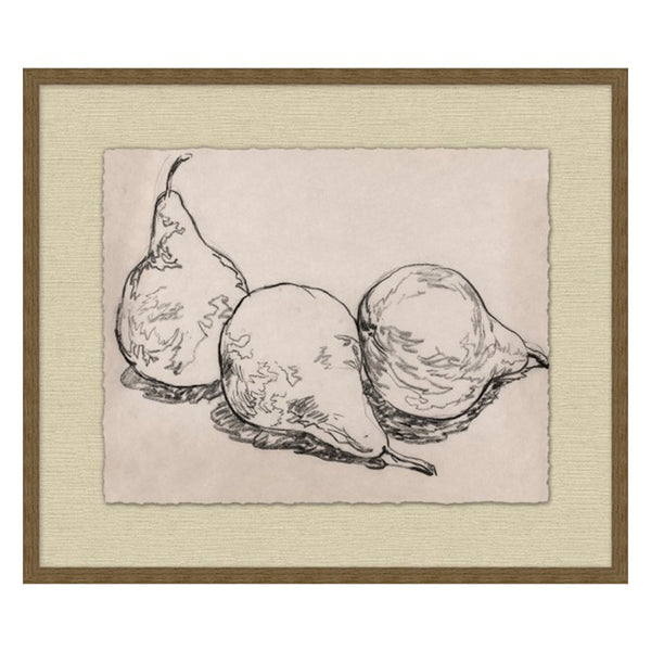 Pear Trio Framed Print