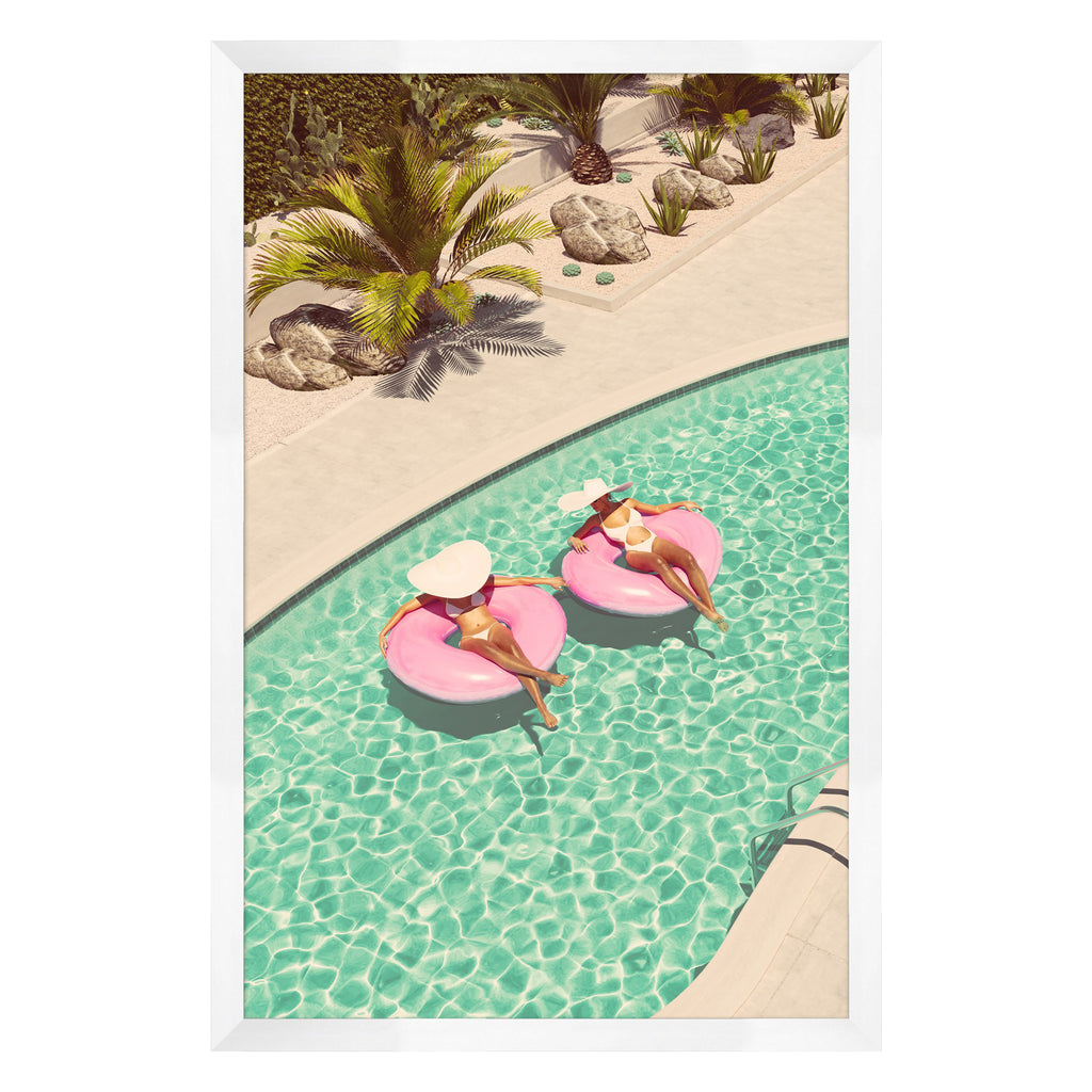 Pink Palm Springs 2 Framed Print