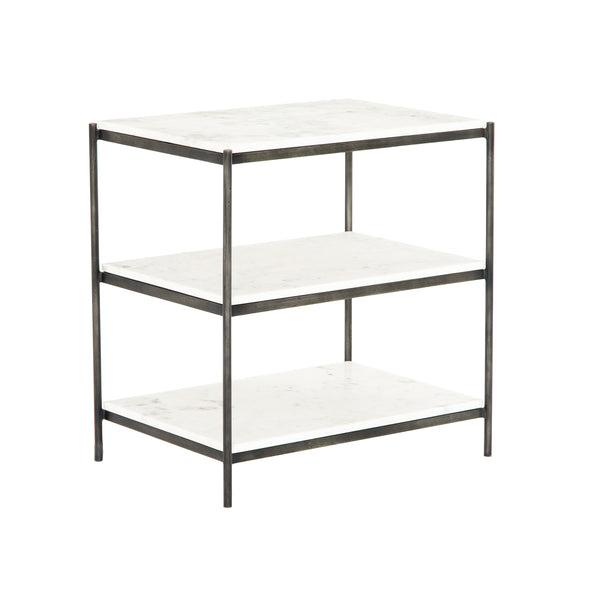 Patoga Nightstand - Hammered Grey