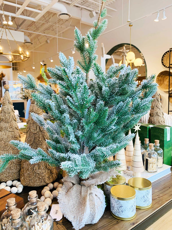 Faux Pine Tree in Burlap