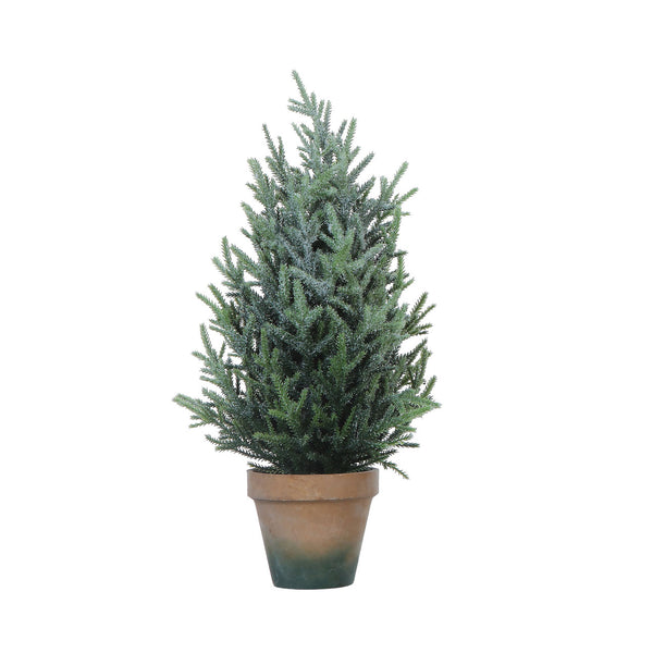 Faux Pine Tree in Terracotta