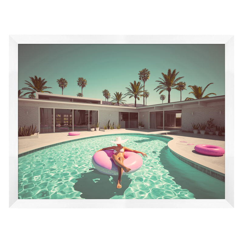 Pink Palm Springs Framed Print