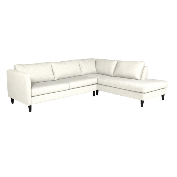 Piper Custom Chaise Sectional Sofa RHF