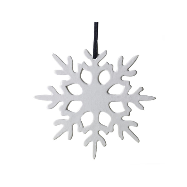 Porcelain Snowflake Ornament