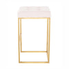 Chi Powder Pink Velvet Stool
