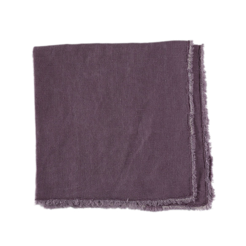 Purple Fringed Napkin