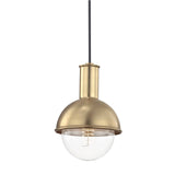 Riley Pendant - Aged Brass