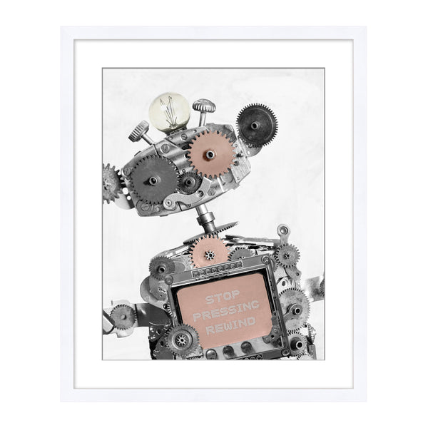 Robotic 2 Framed Print