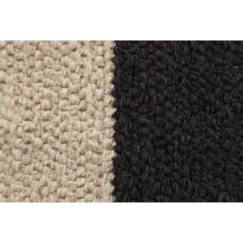 Black Colour Block Rug - 5 x 7