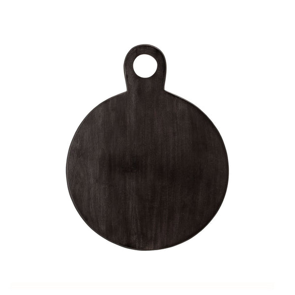 Black Acacia Round Serving Tray
