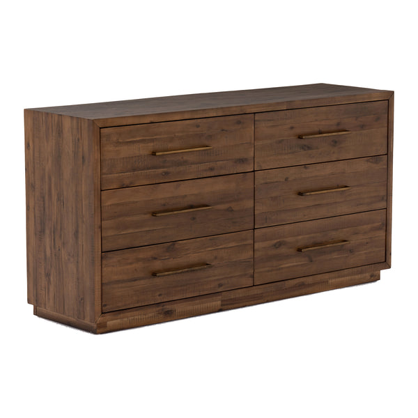 Sake 6 Drawer Dresser - Heritage Brown