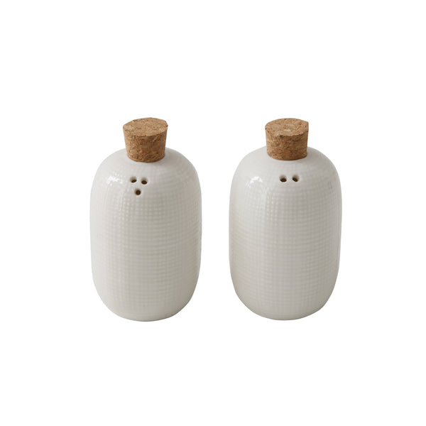 Corked Salt & Pepper Shakers