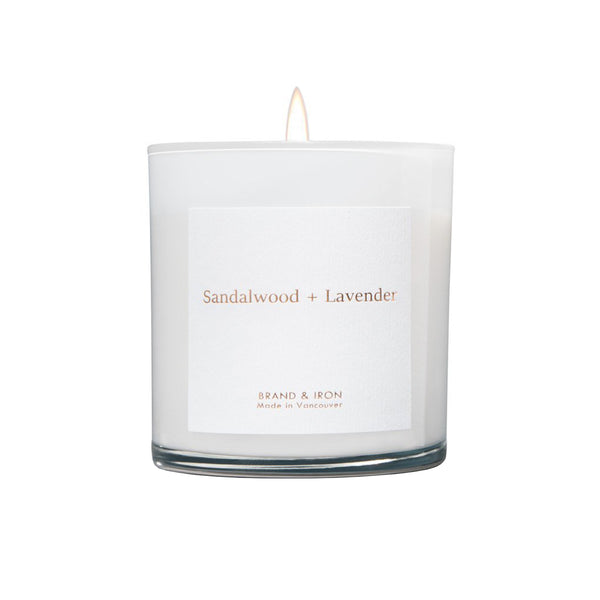 Sandalwood + Lavender Boxed Candle
