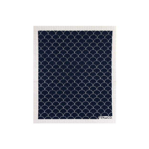 Sponge Cloth -  Scallop Black